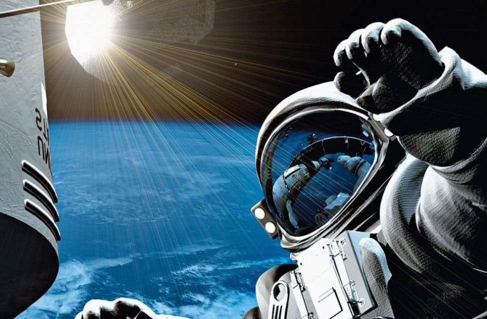 Фотообои космос с космонавтом